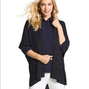 Chico's Leila Lurex Ariana Covering Shawl One Size
